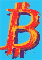Bitcoin (Blue) by Mr. Brainwash - Limited Edition on Paper sized 18x24 inches. Available from Whitewall Galleries