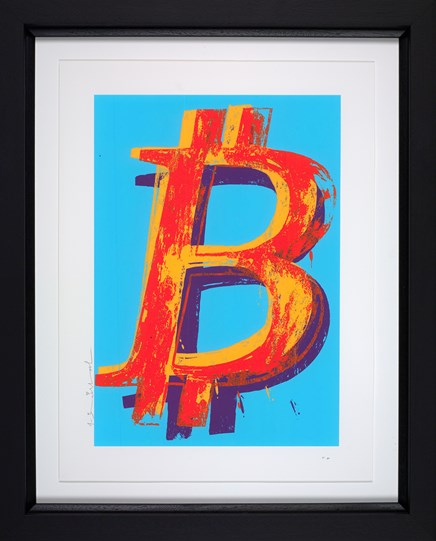 Bitcoin (Blue) by Mr Brainwash - Framed Limited Edition on Paper